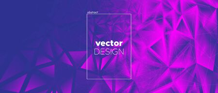 Violet Landing Page. Vector Polygonal Pattern. Magenta Geometry Texture. Commercial Minimal Design. Landing Page. 3d Abstract Polygon Background. Pink Geometric Shapes. Abstract Landing Page. Standard-Bild - 133537746