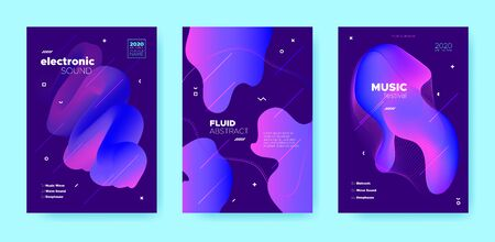 Electro Music Poster. Wave Gradient Blend. Disco Club Event. Neon Flow Shape. Pink Dance Music Poster. Purple Abstract Gradient Shape. Disco 3d Banner. Dj Concert. Techno Music Poster.