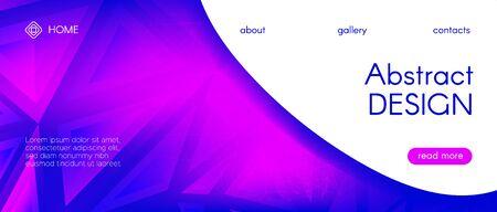 Abstract Geometric Background. Neon Triangular Poster. Gradient Graphic Polygon Banner. Technology Diamond Design. Blue Geometric Mosaic Pattern. Violet 3d Gradient Background. Vector Polygon Layout.