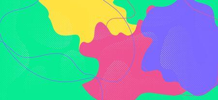 Colorful Memphis Shape. Hipster Geometric Composition. Futuristic Liquid Backdrop. Bright Cool Element. Memphis Poster. Creative Geometric Presentation. Multicolor Funky Collage. Memphis Page.