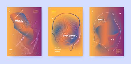 Abstract Flow Shapes. Night Party Template. Orange Music Brochure. Dj Poster. Red 3d Futuristic Design. Gradient Flow Shapes. Disco Club Party Flyer. Music Background. Dance Festival Cover.