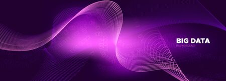 Particle Motion. Violet Big Data Concept. Light Tech Abstract. Binary Matrix Background. Digital Particles. Neon Big Data Analysis. Tech Poster. Pink Binary Numbers Movement. Particle Future.