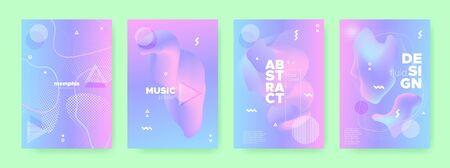Neon Fluid Poster. Violet Hologram Background. Pink Memphis Composition. Blue Liquid Shapes. Pastel Poster. Magic Holographic Background. Magic Memphis Illustration. Wave Shapes. Pastel Banner.