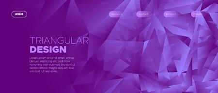 Gradient Landing Page. Graphic Polygon Wallpaper. Vibrant Creative Geometry. Business Minimal Poster. Landing Page. Abstract Polygon Background. Violet Minimal Design. Commercial Landing Page.