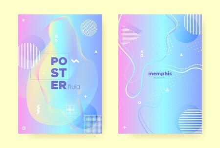 Rainbow Pastel Flow. Abstract Gradient Illustration. Liquid Design. Hologram Brochure. Magic Pastel Poster. Blue Abstract Memphis Background. Pink Wave Banner. Hologram Pattern. Pastel Fluid.