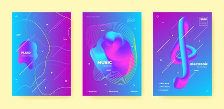 Neon Techno Music Poster. Abstract Gradient Shape. Disco Club Event. Dj Concert. Pink Dance Music Poster. Purple Abstract Gradient Blend. Disco Club Flyer. Dj Invitation. Electro Music Poster.