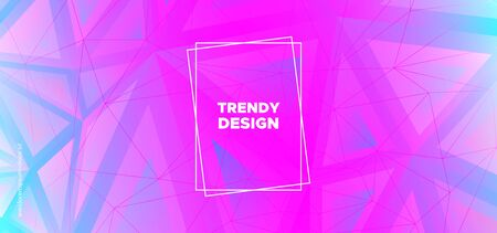 Mosaic Triangular Background. Digital Polygon Poster. Technology 3d Business Design. Pink Graphic Geometry. Triangles Background. Blue Polygon Pattern. Geometric Shapes. Creative Polygon Layout. Иллюстрация