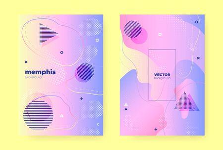 Pastel Fluid Banner. Rainbow Hologram Background. Pastel Memphis Elements. Liquid Shapes. Fluid Brochure. Colorful Hologram Gradient. Memphis Composition. Flow Shapes. Pastel Fluid Poster. Banque d'images - 134435854