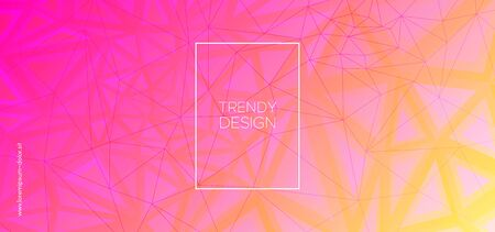Origami Triangles Wallpaper. Trendy Polygon Pattern. Technology Color Presentation. Yellow Geometric Texture. Triangles Background. Pink Polygon Layout. Geometric Banner. Abstract Polygon Poster.