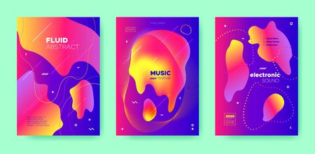 Blue Dj Poster. Electronic Sound. Purple Gradient Banner. Pink 3d Flow Design. Colorful Dj Layout. Electronic Festival. Neon Futuristic Banner. 3d Fluid Design. Red Dj Flyer. Electronic Music. Banque d'images - 134435897