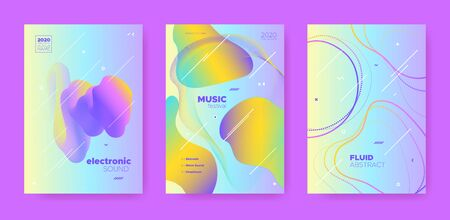 Trance Music Poster. Wave Gradient Blend. Night 3d Banner. Fluid Shape. Pink Electro Music Poster. Pastel Wave Gradient Shapes. Night Club Festival. Dj Party. Dance Music Poster. Иллюстрация