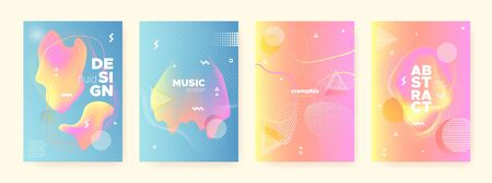Multicolor Fluid Waves. Pink Memphis Brochure. Geometric Poster. Contemporary Pattern. Pastel Liquid Waves. Blue Memphis Texture. Orange Geometric Gradient. Abstract 3d Banner. Pastel Flow Waves.