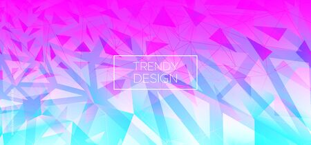 Minimal Triangles Background. Trendy Polygon Layout. Futuristic Vector Presentation. Neon Geometric Shapes. Triangular Background. Pastel Polygon Pattern. Geometric Banner. Abstract Polygon Poster. Banque d'images - 134542887