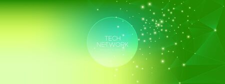 Green Wireless Poster. Technology Architecture. Big Data Screen. Magic Particle Communication. Gradient Wormhole Texture. Technology Background. Future Contemporary. Cosmic Wireframe Abstract. Иллюстрация