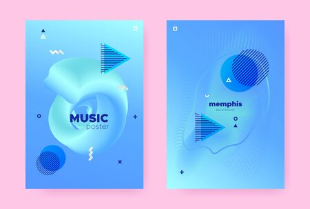 Pastel Hipster Memphis Background. Modern Flow Shape. Music Cover. Trendy Business Template. Hipster Memphis Brochure. Vibrant Fluid Design. Graphic Wave Pattern. Abstract Memphis Gradient.