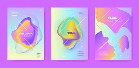 House Music Poster. Abstract Gradient Shape. Night 3d Banner. Fluid Shape. Pink Dance Music Poster. Pastel Wave Gradient Blend. Disco Club Festival. Dj Party. Techno Music Poster.