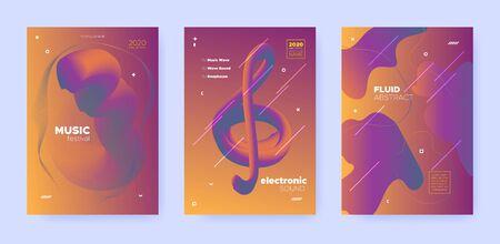 Gradient Flow Shapes. Night Party Template. Orange Music Background. Dj Poster. Blue 3d Futuristic Design. Abstract Flow Shapes. Disco Party Template. Music Invitation. Techno Festival Layout.