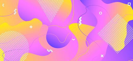 Colorful Liquid Design. Creative Digital Background. Abstract Vector Layout. Gradient Wave Cover. Hipster Liquid Poster. Pink Geometric Composition. Abstract Vector Website. Liquid Concept. Standard-Bild - 137468726