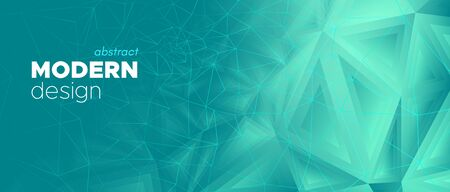 Technology Landing Page. Abstract Geometric Template. Blue Minimal Pattern. Gradient Modern Design. Polygonal Landing Page. Cyan Digital Brochure. Blue Poster. Triangular Landing Page. Standard-Bild - 137468729