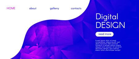 Abstract Geometric Background. Glow 3d Gradient Pattern. Gradient Graphic Polygon Banner. Futuristic Diamond Design. Blue Geometric Mosaic Poster. Violet Triangular Background. Vector Polygon Layout. Standard-Bild - 137468733
