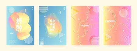 Colorful Liquid Waves. Pink Memphis Brochure. Geometric Gradient. Abstract 3d Pattern. Pastel Fluid Waves. Blue Memphis Texture. Orange Geometric Poster. Contemporary Pattern. Orange Flow Waves. Standard-Bild - 137468763
