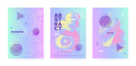 Rainbow Pastel Cover. Abstract Gradient Elements. Wave Banner. Colorful Brochure. Blue Pastel Shape. Unicorn Abstract Gradient Illustration. Pink Wave Design. Music Pattern. Pastel Flow. Standard-Bild - 137468764