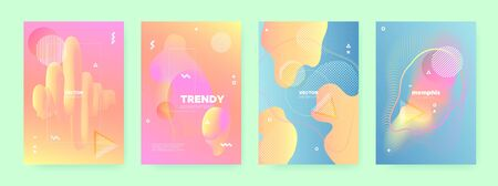 Colorful Fluid Waves. Pastel Memphis Brochure. Dynamic Gradient. Contemporary Shapes. Orange Flow Waves. Blue Memphis Texture. Pink Geometric Gradient. Contemporary Banner. Orange Liquid Waves. Standard-Bild - 137468779