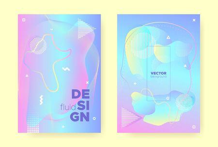 Rainbow Pastel Shape. Abstract Gradient Background. Liquid Design. Colorful Placard. Pink Pastel Fluid. Unicorn Abstract Gradient Illustration. Blue Wave Design. Hologram Pattern. Pastel Cover. Standard-Bild - 137468782