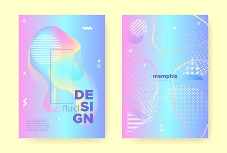 Rainbow Pastel Flow. Abstract Gradient Illustration. Liquid Design. Music Brochure. Unicorn Pastel Shape. Blue Abstract Memphis Elements. Pink Wave Design. Music Placard. Pastel Poster. Standard-Bild - 137468784