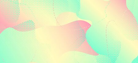 Abstract Colorful Poster. Red Geometric Shapes. Liquid Motion. Contemporary Composition. Green Modern Banner. Pastel Colorful Background. Modern Artwork. Pastel Colorful Poster. Standard-Bild - 137399223