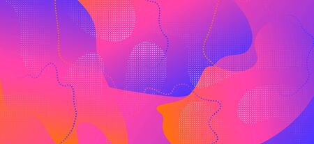 Purple Fluid Poster. Vibrant Wave Presentation. Abstract Memphis Template. Red Vector Pattern. Business Fluid Shapes. Gradient Liquid Illustration. Pink Graphic Texture. Vibrant Fluid Banner. Standard-Bild - 137399522
