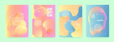 Multicolor Liquid Waves. Pastel Memphis Brochure. Dynamic Design. Contemporary Pattern. Orange Fluid Waves. Pink Memphis Texture. Blue Geometric Poster. Abstract 3d Pattern. Pink Flow Waves. Standard-Bild - 137672289
