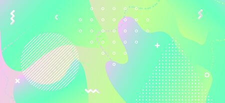 Abstract Pastel Banner. Geometric Liquid Shapes. Pink Funny Placard. Trendy Vector Brochure. Memphis Pastel Poster. Hipster Funky Placard. Green Funky Concept. Memphis Pastel Background. Standard-Bild - 137672678