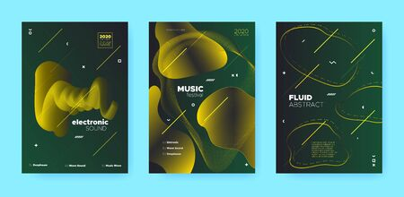 Abstract Flow Shapes. Disco Club Party Flyer. Gold Music Invitation. Dj Sound. Luxury 3d Movement Banner. Gradient Flow Shapes. Night Club Party Flyer. Music Background. Vip Abstract Flow Shapes. Standard-Bild - 137751392