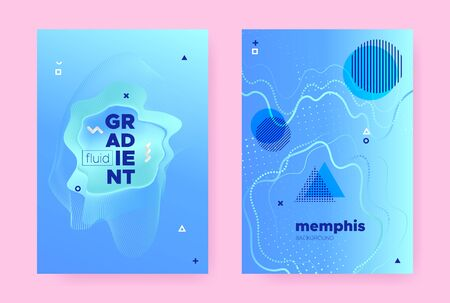 Pastel Abstract Memphis Gradient. Vibrant Flow Poster. Music Banner. Trendy Business Template. Abstract Memphis Background. Modern Fluid Shapes. Graphic Wave Cover. Hipster Memphis Gradient.