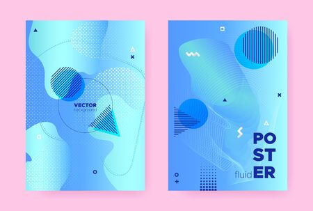 Pastel Abstract Memphis Background. Vector Flow Shapes. Liquid Cover. Vibrant Business Magazine. Hipster Memphis Background. Modern Fluid Poster. Summer Wave Pattern. Abstract Memphis Brochure. 일러스트