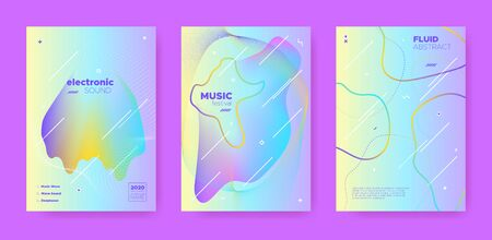 Techno Music Poster. Abstract Gradient Shape. Night Club Festival. Fluid Shape. Pink Electro Music Poster. Pastel Abstract Gradient Blend. Night Club Event. Dj Party. House Music Poster.