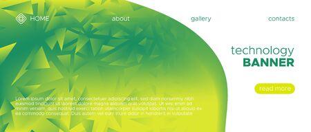 Abstract Geometric Background. Triangular Poster. Biology Vector Polygon Banner. Technology Diamond Design. Green Network Diamond Pattern. Ecology 3d Gradient Background. Futuristic Diamond Design.