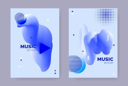 Pastel Abstract Memphis Gradient. Summer Fluid Design. Liquid Banner. Vector Geometric Magazine. Hipster Memphis Background. Vibrant Fluid Shape. Trendy Wave Banner. Hipster Memphis Brochure. Иллюстрация