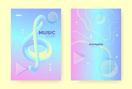 Rainbow Pastel Flow. Abstract Gradient Elements. Liquid Design. Hologram Pattern. Blue Pastel Poster. Pink Abstract Memphis Elements. Magic Wave Banner. Hologram Brochure. Pastel Cover.