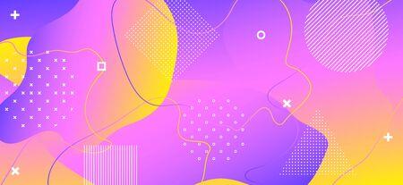 Purple Liquid Motion. Creative Memphis Background. Abstract Vector Layout. Gradient Wave Cover. Fashion Liquid Concept. Colorful Memphis Composition. Abstract Graphic Layout. Liquid Poster.