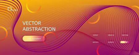 Abstract Flow Pattern. Creative Dynamic Motion. Fluid Shapes Poster. Red Flow Pattern. Vector Wavy Landing Page. Digital Illustration. Orange Curve Line Background. Memphis Flow Pattern. Illusztráció
