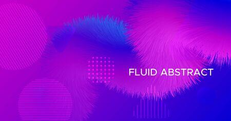 Pink Fluid Futuristic Liquid. Vector Digital Flyer. Neon Gradient Pattern. Blue Creative Movement. Pink Futuristic Liquid. Flow Color Shapes. Abstract Music Wallpaper. Vibrant Futuristic Liquid. Illusztráció