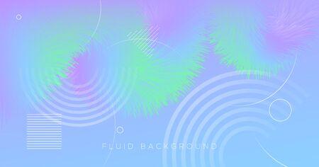 3d Vibrant Background. Pastel Music Flyer. Liquid Futuristic Concept. Fluid Gradient Motion. Flow Vibrant Background. Abstract Wallpaper. Vector Bright Geometric Banner. 3d Vibrant Background. Vettoriali