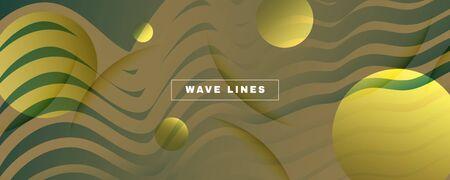 Green Landing Page Design. 3d Fluid Line Texture. Vector Technology Movement. Camo Futuristic Illustration. Landing Page Design. Flow Modern Concept. Creative Landing Page Design.