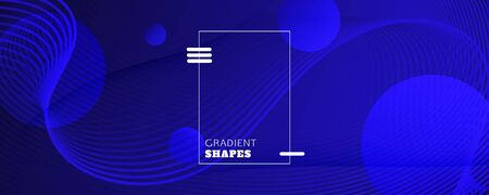 Blue Futuristic Background. Flow Lines Texture. Abstract Landing Page. Wave Creative Elements. Gradient Vibrant Futuristic Background. Fluid Illustration. Black Brochure. Futuristic Background.
