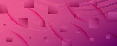 Color Flow Wave. Pink Futuristic Wallpaper. Abstract Fluid Shape. Technology Texture.  Color Flow Wave. Vector Vibrant Flyer. Pink Fluid Magazine. Business Banner. 3d Color Flow Wave.