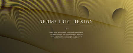 Abstract Vector Curve. Gold Gradient Landing Page. 3d Fluid Line. Creative Poster. Yellow Abstract Vector Curve. Color Memphis Motion. Flow Website. Futuristic Abstract Vector Curve. Banque d'images - 150756794