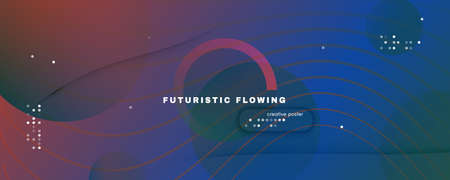 Flow Geometric Abstract. Color Futuristic Line Movement. Red Business Banner. Graphic Dynamic Illustration. Fluid Elements. 3d Curve Wallpaper. Gradient Geometric Abstract. Vivid Lines.