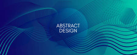 Blue Dynamic Wave. Fluid 3d Elements. Vector Futuristic Lines. Dynamic Wave. Memphis Pattern. Flow Motion. Abstract Wallpaper. Geometric Movement. Dark Digital Template. Dynamic Wave.  イラスト・ベクター素材